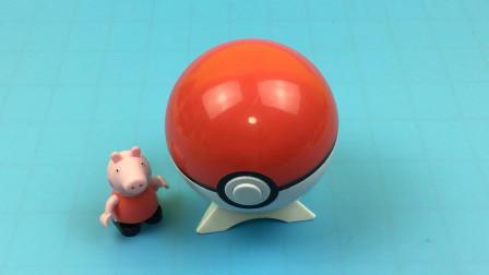 小猪佩奇分享精灵球玩具蛋
