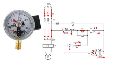 电工知识:电接点压力表使用方法,手动自动控制接线步骤一一讲解