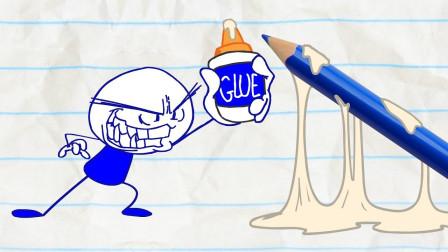 小精灵回来了 阿呆要怎么办?铅笔画小人游戏