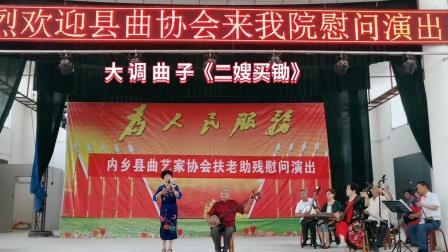 内乡县曲艺家协会扶老助残慰问演出  大调曲子《二嫂买锄》 2020.5.28