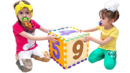糟糕!萌娃小萝莉怎么在抢积木玩具?可是妈妈想到什么好主意?儿童亲子益智趣味游戏玩具故事