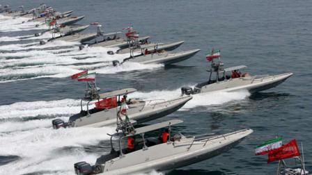 美舰逼近家门口,伊朗大批导弹艇出海,或将爆发严重冲突