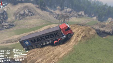 旋转轮胎:这样的路,让大货车情何以堪啊?太难走了
