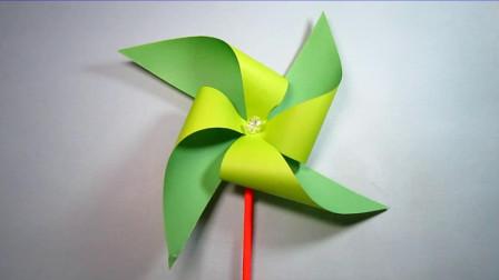 手工折纸,大风车的折法,简单又漂亮