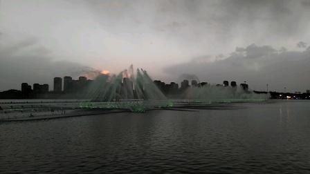 内蒙古鄂尔多斯市康巴什区音乐喷泉