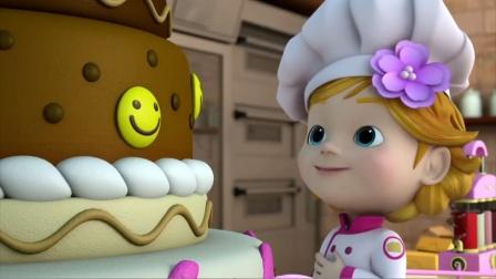 跟着超级飞侠学英语之装饰蛋糕,大家会自己动手做蛋糕吗?