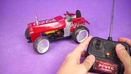 老外用易拉罐制作玩具拖拉机,看样子应该挺好玩的