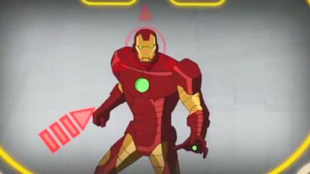 钢铁侠被镭射人给控制,超级英雄们想办法救他!