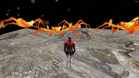 欧布奥特曼在太空遇到岩浆蜘蛛能消灭吗?