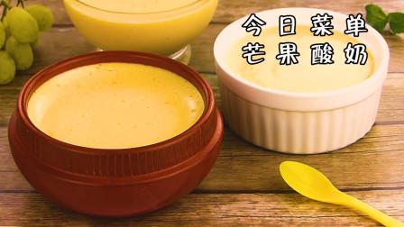 小羽美食堂:自制芒果酸奶教程,夏天适合小孩的甜点!