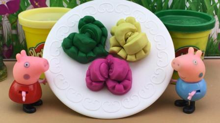 彩泥手工玩具,小猪佩奇DIY蛋糕!