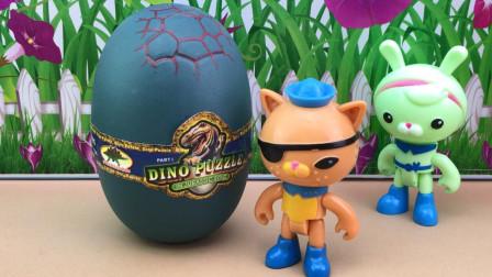 拆恐龙蛋,海底小纵队拼侏罗纪积木恐龙!