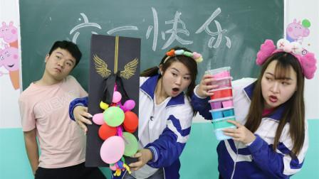 """六一儿童节,学生为了赢礼物拿出看家本领""""玩泥"""",无硼砂"""