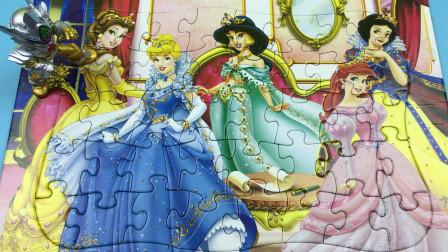 铠甲勇士捕将分享迪士尼公主拼图
