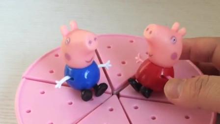 猪妈妈过生日,佩奇乔治给妹妹做生日蛋糕,水果蛋糕妈妈会喜欢吗?