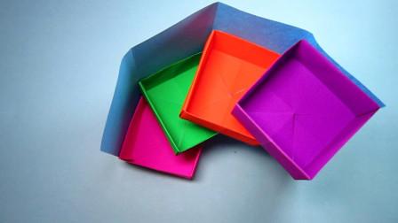 手工折纸,多层收纳盒的折法,简单实用趣味多