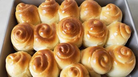 蜂蜜小面包怎么做?配方简单,不添加任何添加剂,蓬松拉丝好吃