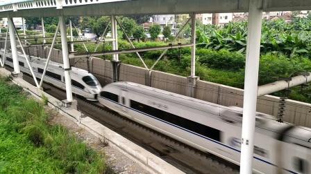 2020年6月1日,G6071次(永州站—福田站)本务中国铁路广州局集团有限公司广州动车段长沙动车运用所CRH3C-3025+3040驶出金沙洲隧道