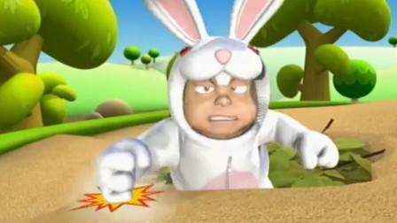 电击小子:兔子和乌龟赛跑,没想到乌龟居然骑车