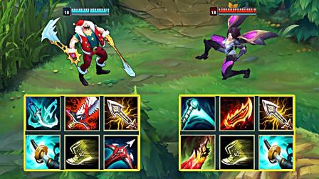 LOL:神装德莱文VS神装卡莎,哪个英雄更强?