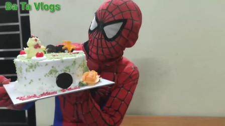 蜘蛛侠:蜘蛛侠亲自准备了生日蛋糕