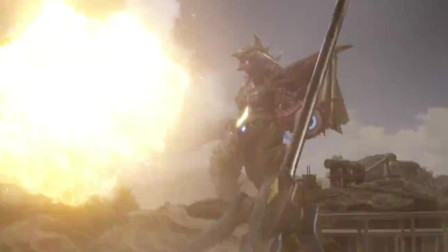 欧布奥特曼:银河和怪兽近身格斗,没想到怪兽还有这技能!