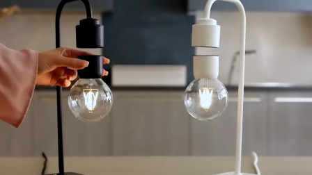 神奇的磁悬浮台灯,每件都是独一无二,就算断电灯泡也不会坠落