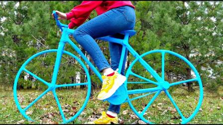 美女脑洞大开,使用3D打印笔画出自行车,成品太惊艳了!