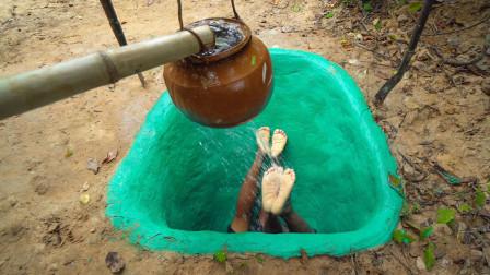 印度牛人秀操作,徒手挖出地下泳池,成品太霸气了!