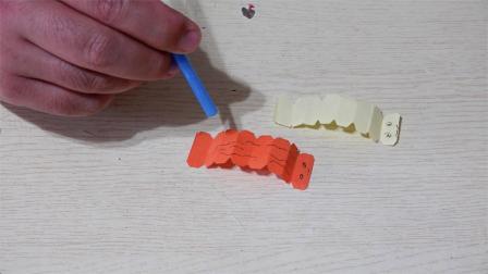 吸管一吹就会动的毛毛虫!好玩有趣的折纸,一学就会