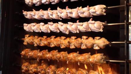 韩国最牛的鸡,人参糯米鸡,一炉几十只都不够卖的