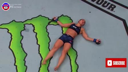 UFC最残暴的女子KO,第二个眼神都被打直了