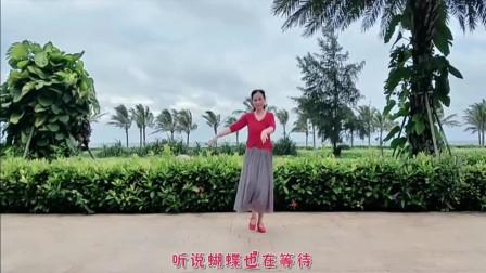 云裳广场舞《花都开了你来不来》云裳老师原创单人吉特巴风格舞蹈