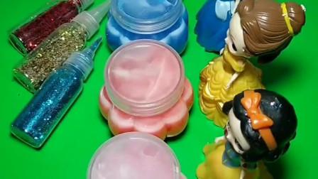 公主们买了起泡胶,各种颜色都有,王后作为评委选出最好看的