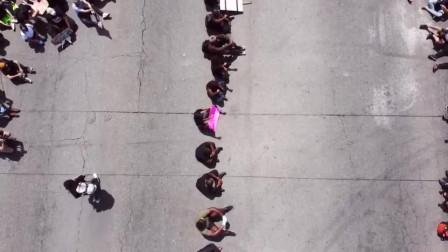 令人震撼!只有无人机才能展示的美国抗议者规模!