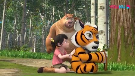 熊出没:赵琳回忆小时候和虎妞的事情,熊二发现虎妞瘦的像只大猫