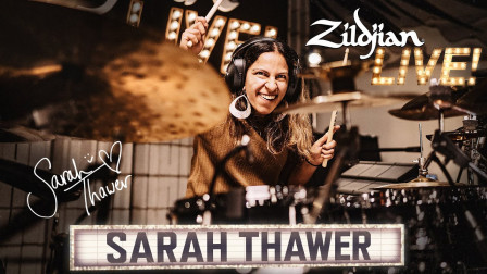 超猛女鼓手 Sarah Thawer,来自加拿大多伦多