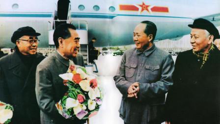 毛泽东刘少奇周恩来朱德机场合影背后的故事:苏联叫嚣搞掉毛泽东