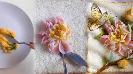 面包翻身变艺术品:90后手艺人用食材作画