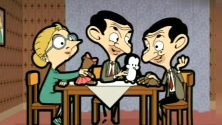 憨豆先生 憨豆的厨艺就是不同啊,鸡腿做的真好吃!