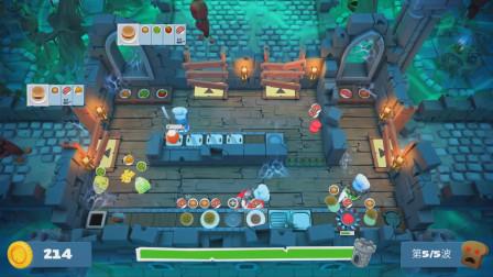 胡闹厨房:友尽厨房P69,辣椒和面包片要吃汉堡 西西熊哥做了好多汉堡守卫厨房