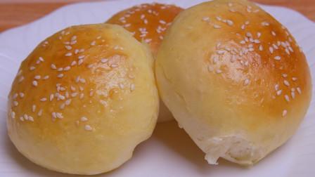 1碗面粉,1个鸡蛋,不用揉面更不用揉出膜,教你在家做牛奶小面包