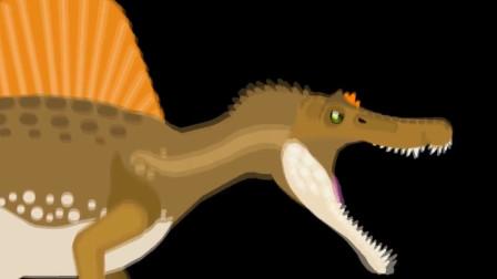 狡猾的鳄鱼与哥斯拉恐龙决斗,没想到在水里的鳄鱼这么厉害!