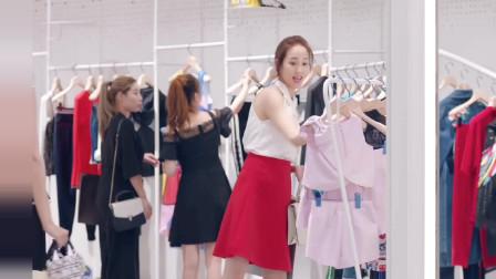 张钧甯穿着红色的短裙,显得格外的俏皮