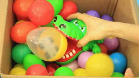 大鳄鱼在奇趣蛋里发现很多小车车