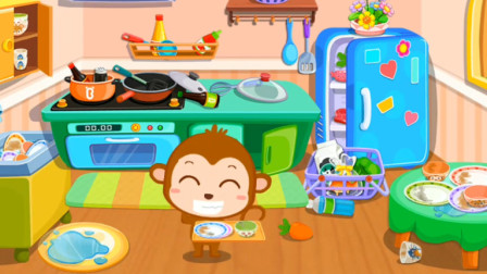 勤劳的点点每天都会帮妈妈整理厨房,向它学习吧!宝宝巴士游戏