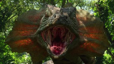 地心历险记2:神秘岛上充满巨型生物,巨石强森用怼总统的勇气应付