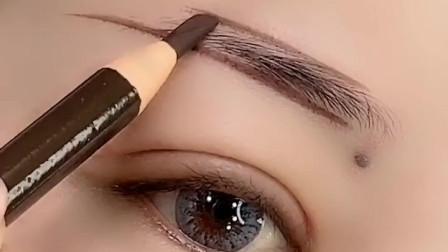 眉毛这样画超自然,比纹的都要好看