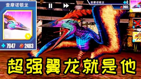 小鸢解说 1942超强翼龙选手查摩诺顿龙,血量伤害都超强 侏罗纪世界★恐龙公园