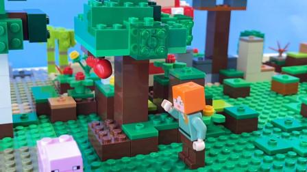 我的世界动画-爱丽克丝的新朋友-Crafting Guys Lego Minecraft